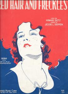 "Sheet music published in 1929  for ""Red Hair and Freckles"""
